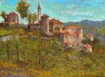 Village italien sur la montagne