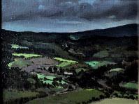 Montagnes après l'orage