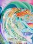 Tsunami. Filets, sirènes, mouvement des vagues, des algues, des créatures marines. Dessin