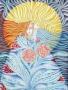 La naissance.. Femme coffre fort, femme solaire, femme fleur. Dessin
