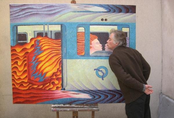 métro et artiste