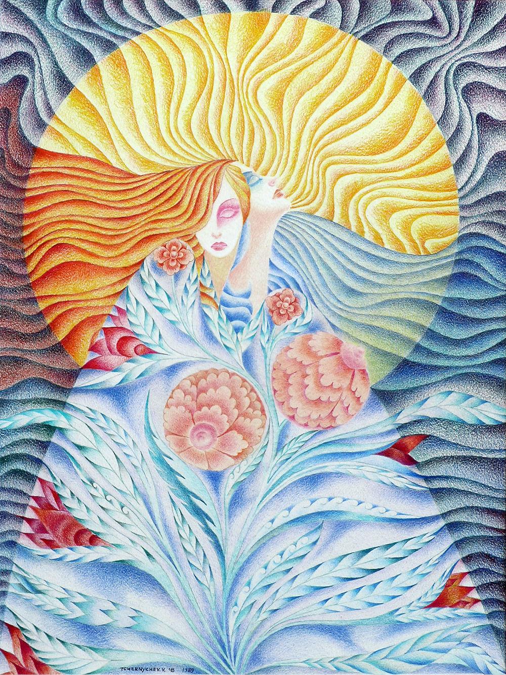 fleurs-femme, solaire