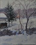 Arbres dans la neige