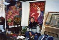 Художник в своей мастерской в Париже