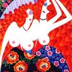 femme, huile sur toile