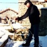 artiste dans la neige