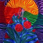 naissance, femme-fleur